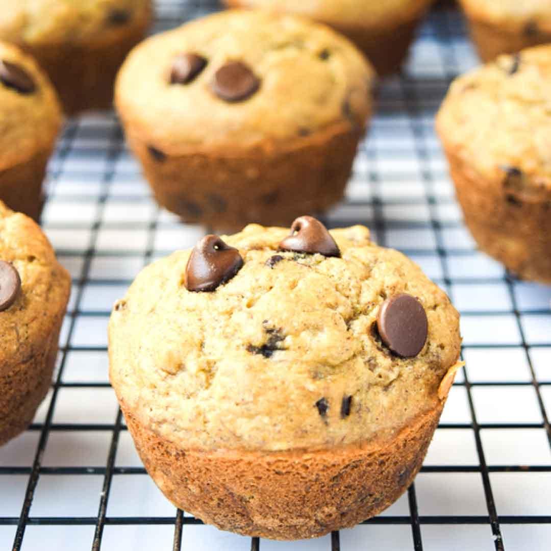 protein powder banana muffins